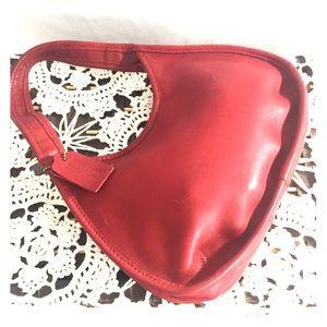 Vintage Coach Ergo 9027 red mini bag leather